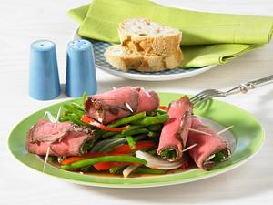 Roastbeef-Meerrettich-Röllchen (Hauptgericht) Rezept