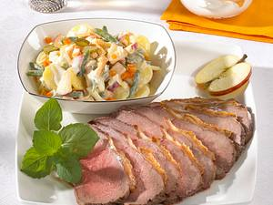 Roastbeef mit russischem Salat Rezept