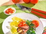 Roastbeef-Röllchen mit Tomatendip Rezept