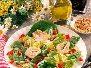 Römersalat mit Artischocken Rezept