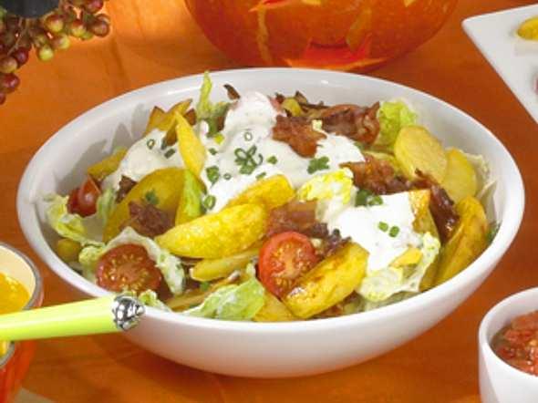 Röstkartoffelsalat mit Bacon Rezept
