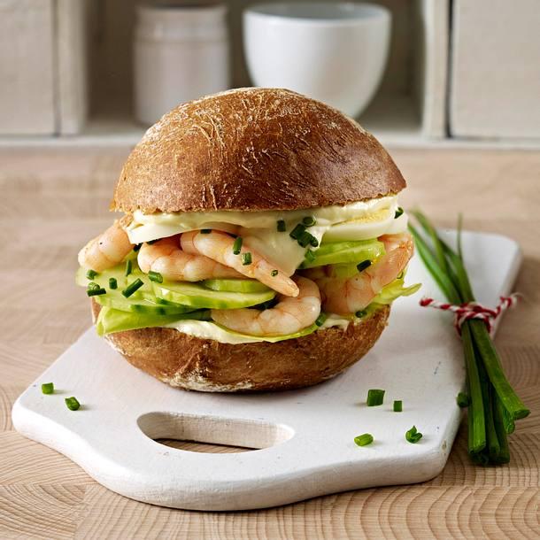 Roggen-Garnelen-Burger Rezept
