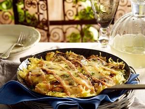 Roigabrageldi de Munster (Elsässer Bratkartoffeln mit Munsterkäse) Rezept