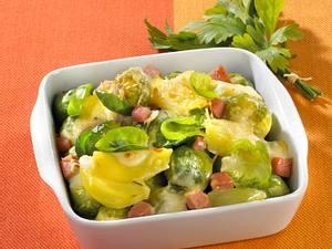 Rosenkohl-Kartoffelauflauf Rezept