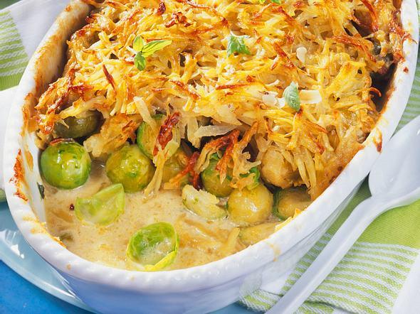 Rosenkohl mit Kartoffelkruste Rezept