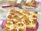 Rosinenschneckenkuchen vom Blech Rezept