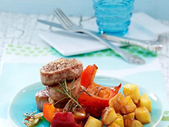 Rosmarin-Medaillons und Röstkartoffeln Rezept
