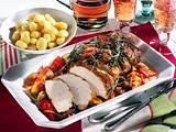 Rosmarin-Schnitzelbraten mit Ratatouille Rezept