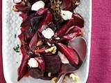 Rote-Bete-Salat mit Frischkäseflocken Rezept