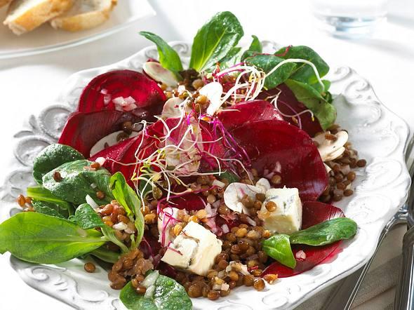 Rote-Bete-Salat mit Linsen Rezept