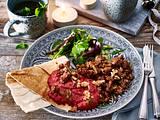 Rote-Bete-Walnuss-Püree zu Rinderhack Rezept