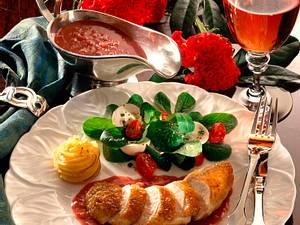Rote Buttersoße (Beurre rouge) mit gebratener Hähnchenbrust Rezept