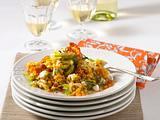 Rote-Linsen-Salat mit Schafskäse Rezept