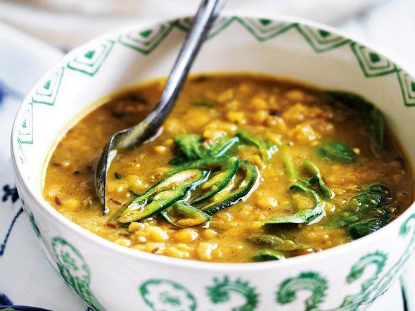 Rote-Linsen-Suppe mit Hack und Spinat Rezept