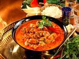 Rotes Hähnchen-Curry mit Reis Rezept
