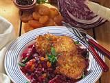 Rotkohl mit Kartoffel-Quark-Puffer Rezept