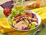 Rotkohl-Möhren-Salat mit Entenbrust Rezept