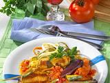 Rouladen auf Tomatengemüse Rezept