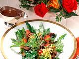Rucola-Frisée-Salat mit gebratener Putenleber Rezept