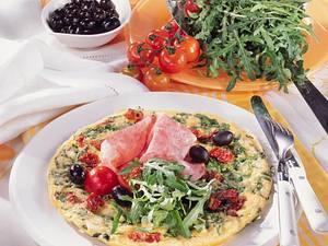 Rucola-Omelett mit Mortadella Rezept