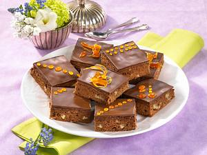 Rum-Pecannuss-Brownies Rezept