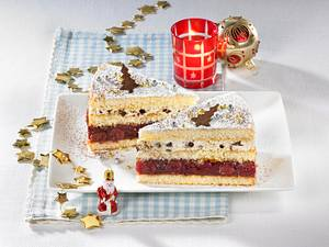 Rumtopf-Torte Rezept