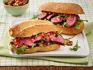 Rustikales Steak-Sandwich Rezept
