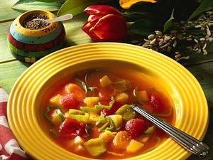 Säuerlich-scharfe Gemüsesuppe Rezept