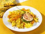 Safran Paprika Mais-Couscous mit Putenbrust Rezept