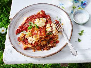 Saftige Auberginen-Cannelloni mit Ricotta Rezept