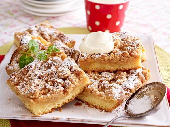 Saftiger Apfel-Streuselkuchen Rezept