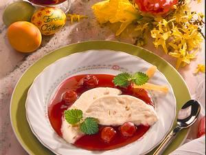 Sahne-Eis mit heißen Kirschen Rezept