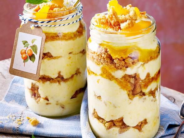 Sahne-Joghurt-Aprikosen-Dessert Rezept