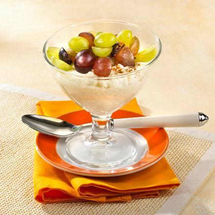 Sahniger Milchreis mit Trauben Rezept