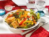 Salat mit gebackenem Fetakäse Rezept