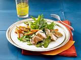Salat mit gebratenem Hähnchenfilet und Minzedressing Rezept