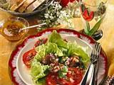 Salat mit Geflügelleber und lauwarmer Vinaigrette Rezept