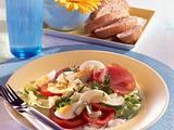 Salat mit Lachsschinken und Ei Rezept