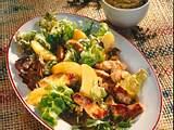 Salat mit Pute und Pfirsich Rezept