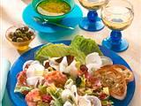 Salatteller mit Salami Rezept