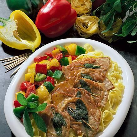 Saltimbocca mit Paprika Rezept