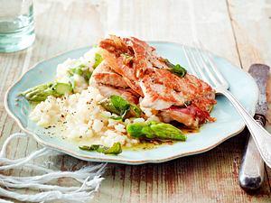 Saltimbocca mit Spargelrisotto Rezept