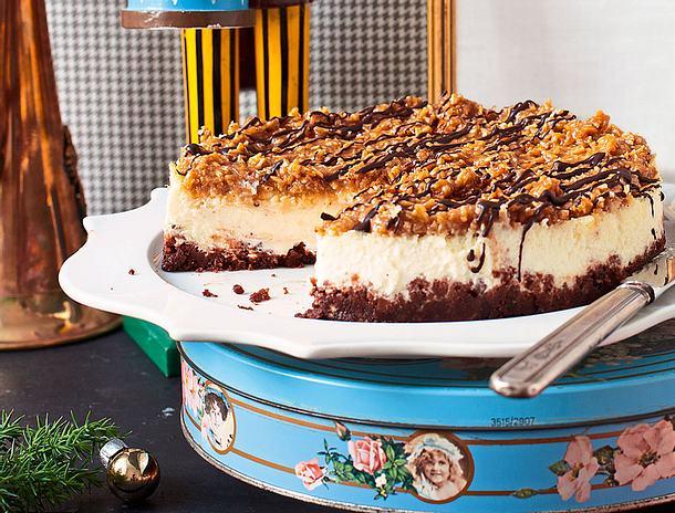 Samoa-Cheesecake Rezept