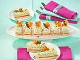 Sandwich-Finger mit Lachs und Avocado-Creme Rezept