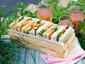 Sandwich mit Lachs und Thunfisch Rezept