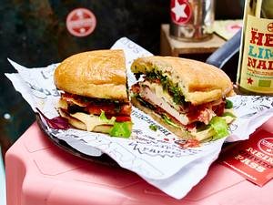Sandwich mit Putensteak Rezept