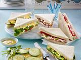 Sandwich mit Schinken, Krautsalat und Paprika Rezept