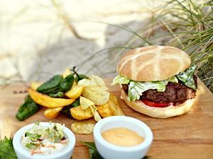 Sansibar-Burger mit Kartoffel-Mix Rezept