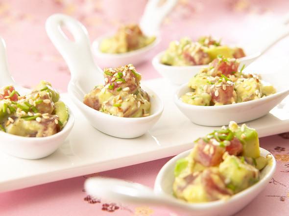 Sashimi Thunfisch mit Avocado Rezept