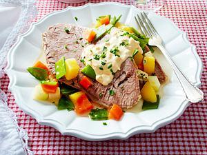Sauce Gribiche zu Tafelspitz und Bouillon-Gemüse Rezept